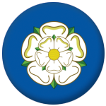 Yorkshire County Flag 25mm Flat Back